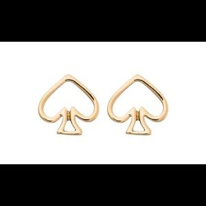 Kate Spade Gold-Tone Open Logo Stud Earrings